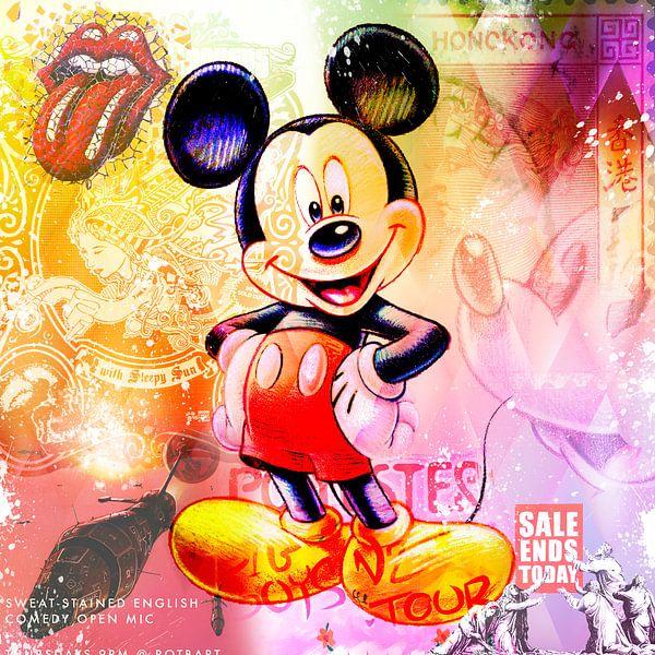 Micky Maus Pastell von Rene Ladenius Digital Art