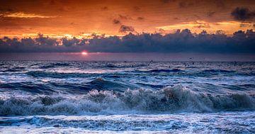 zonsondergang van Dirk van der Plas