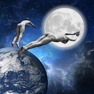 Moonlight Skinny Dipping sur Marja van den Hurk