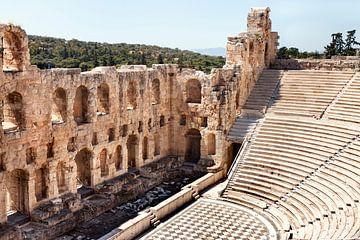 Grèce Acropole de l'Odéon d'Athènes sur Marianne van der Zee