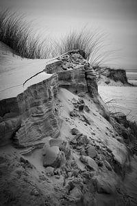 Sand dunes and grass in Schiermonnikoog