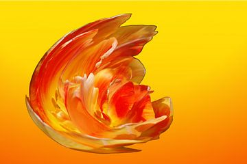Geel Oranje Vuur Explosie 2 Gedetailleerd van Alice Berkien-van Mil
