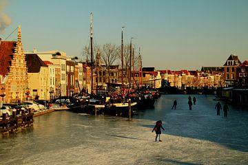Leiden in winter (ii) sur Stefan van Dongen