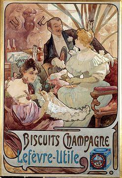 Biscuit Champagne - Alphonse Mucha