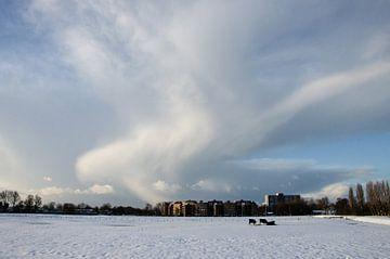 Winter in Heemskerk von Yvonne van der Meij
