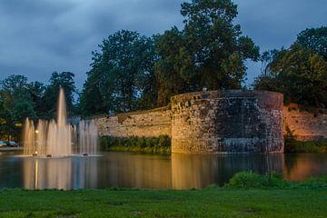 Fontein in stadspark te maastricht van Peter Wolfhagen