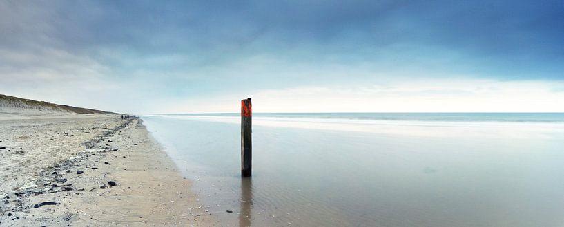 Panorama strand Zandvoort van Gerhard Niezen Photography