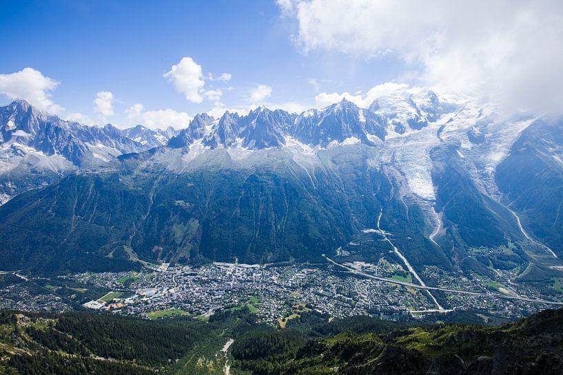 Magisch uitzicht op Chamonix in Frankrijk van Rosanne Langenberg