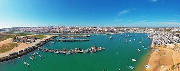 Luftaufnahme des Hafens von Lagos an der Algarve Portugal von Nisangha Masselink