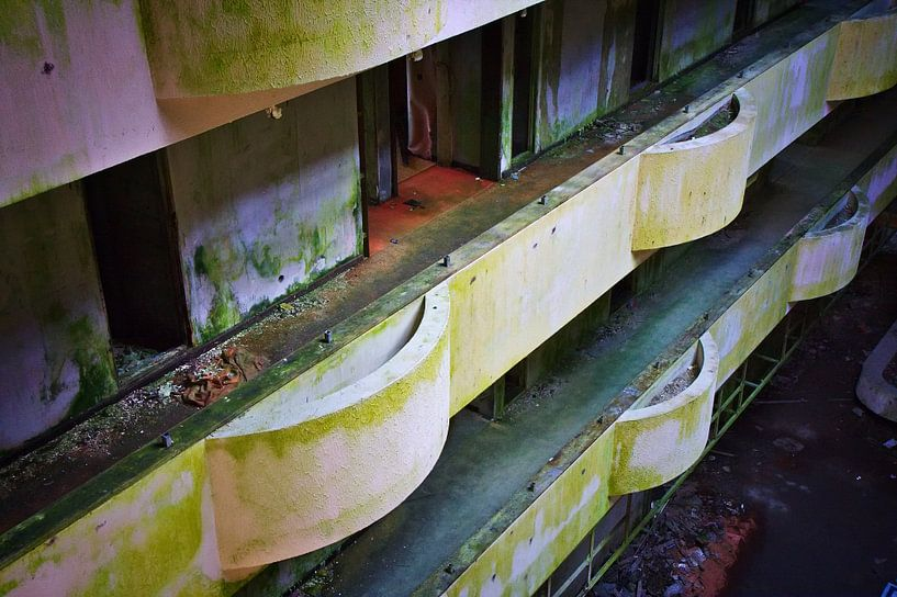 Balkon Zimmer verlassenen Hotel sur Jan Brons