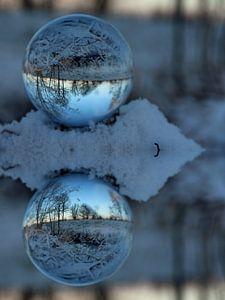 Glazen bol winter