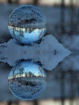 Glaskugel Winter von Fotografie Sybrandy