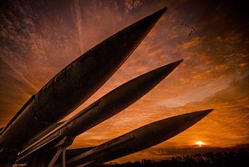Raketten bij zonsondergang