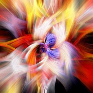 Veelkleurig abstract, vierkante compositie