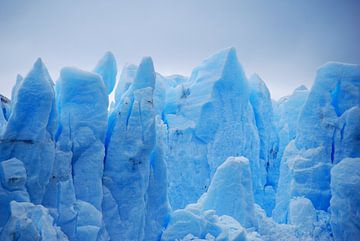 Kleurrijke gletsjer in Argentinië van Homemade Photos