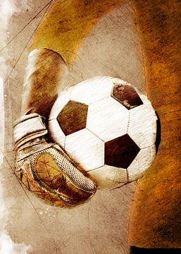 Voetbal speler sport kunst #football #soccer van JBJart Justyna Jaszke