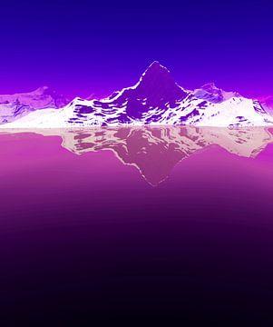 Besneeuwde bergen 3 van Angel Estevez