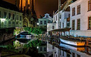 Brugge tijdens de nacht van