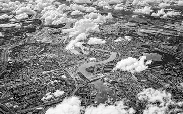 Luchtfoto Rotterdam van Martijn Kort