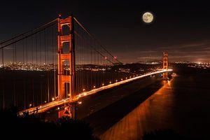 Mond über San Francisco