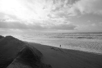 Eenzame strand wandelaar van ToeK !