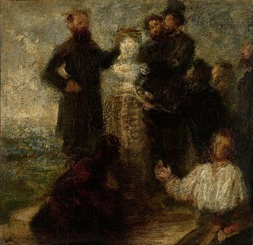 Skizze für die Ehrung von Delacroix, Henri Fantin-Latour