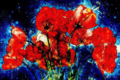 Red Tulip bouquet van Dagmar Marina