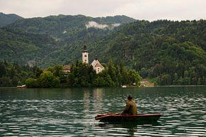 Roeier in Bled