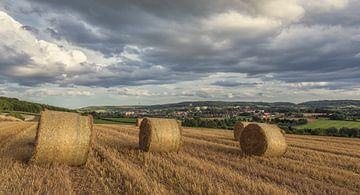 Zomeravond op de heuvels rond Vaals in Zuid-Limburg van
