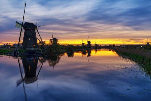 Kinderdijk, Windmill  van Jacques Yasemin