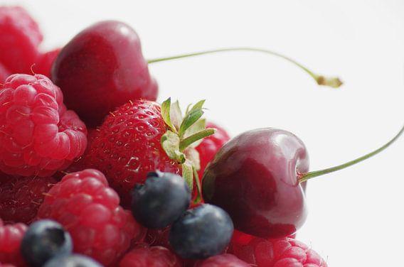 Kersen, frambozen, bosbessen, aardbeien Quartet
