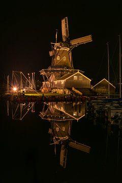 Windmühle Woudsend Holzsägewerk der Jäger von Erik van 't Hof