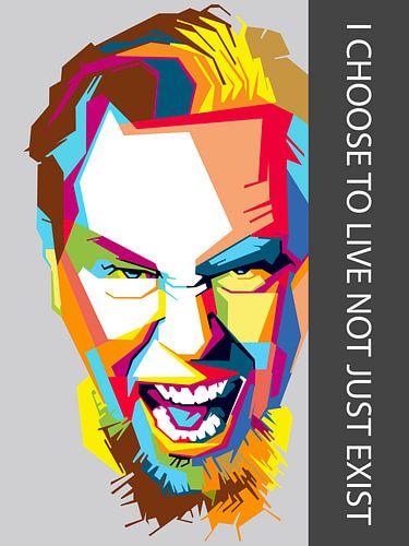 Pop Art James Hetfield - Metallica van