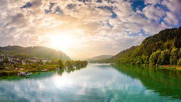 Sonnenaufgang an der Mosel von Günter Albers