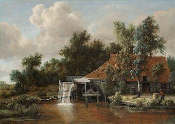 Een watermolen, Meindert Hobbema
