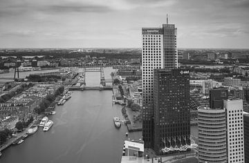 rotterdam skyline vanaf de Rotterdam van Ilya Korzelius