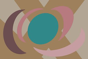 Kleurige cirkelvormige vlakken