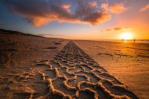 Zandspoor naar de horizon