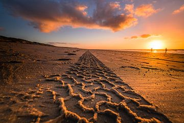 Zandspoor naar de horizon von Niels Barto