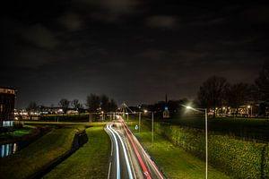 markiezaatsweg in bergen op zoom in de avond van Lars Mol