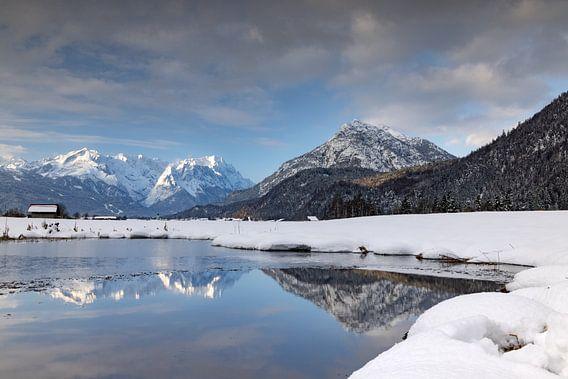 Winterstimmung am Biotop bei Farchant