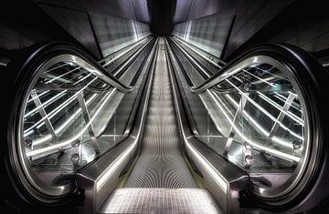 Roltrap Metro Noord Zuidlijn Amsterdam sur Mario Calma