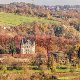 Kasteel Schaloen in prachtige herfstkleuren van John Kreukniet