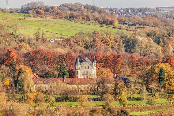 Kasteel Schaloen in prachtige herfstkleuren