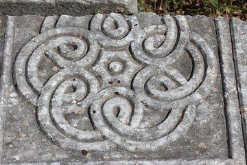Ornament im Stein- Philippi / Φίλιπποι (Daton) - Griechenland von ADLER & Co / Caj Kessler
