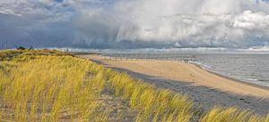 Strand, zee, wolken, Texel / Beach, sea, clouds, Texel van