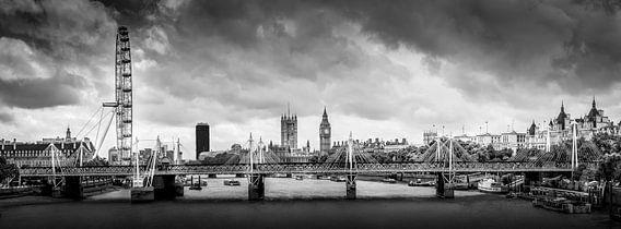 Panorama van Londen (Verenigd Koninkrijk) van Mark de Boer - Artistiek Fotograaf