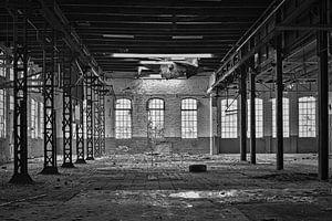 Abgenutzte Fabrik