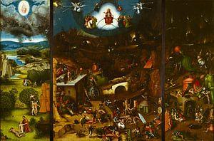 Het Laatste Oordeel (volledig 3 luik / triptiek) - Schilderij naar Jheronimus Bosch - Jeroen Bosch van