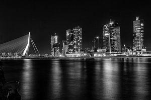 Zwart/wit Rotterdam skyline